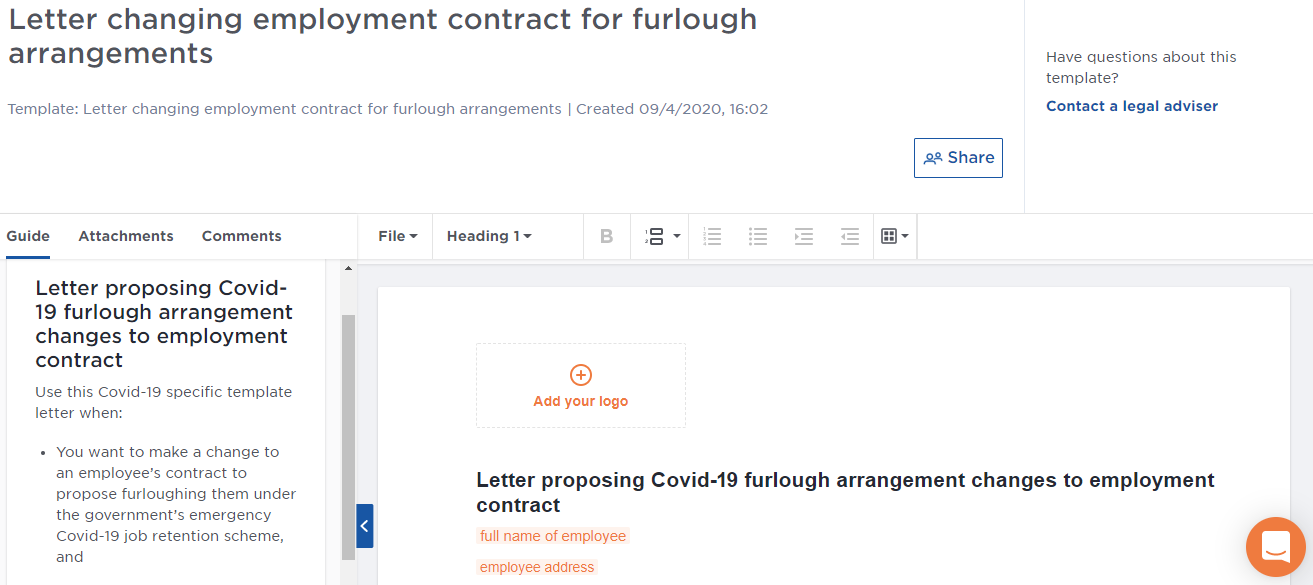 Furlough document